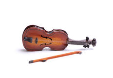 Toy violin, isolated Royalty Free Stock Image
