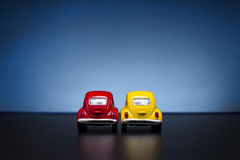 Toy Volkswagen Beetle. Izmir, Turkey - February 16, 2015. Toy Volkswagen Beetletoy cars on blue background Stock Photography
