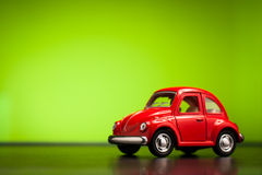 Toy Volkswagen Beetle stock images
