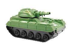 Toy war tank. Isolated on white background Royalty Free Stock Images