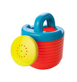 Toy Watering Can (clipping path) Stock Photo