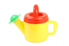 Toy watering can for watering flowers Stock Photography