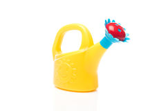 Toy watering can Royalty Free Stock Photography