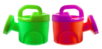 Toy Watering Cans stock foto's