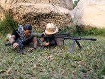 Toy weapon scale 1/6. This a Weapon Model scale1/6 killer enemy Royalty Free Stock Images
