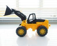 Toy Wheel Loader Close omhoog Royalty-vrije Stock Foto's