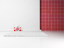 Toy on the white carpet Stock Images