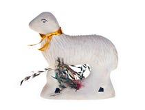 Toy White Lamb molle Fotografie Stock Libere da Diritti