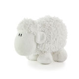 Toy White Lamb suave Fotografía de archivo libre de regalías