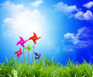 Toy wind turbine Stock Images