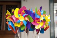 Toy Windmills Stock Photo