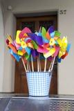 Toy Windmills Royalty Free Stock Photo