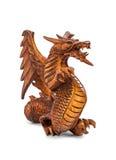Toy wood dragon. On white background royalty free illustration