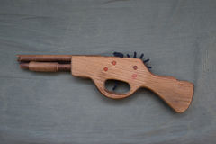 Toy wood gun Royalty Free Stock Photos