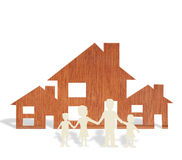 Toy wood house form of  diagram Stock Images