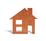 Toy wood house form of  diagram Royalty Free Stock Photos