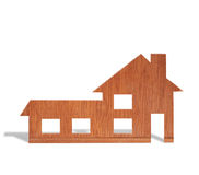 Toy wood house form of  diagram Stock Photography