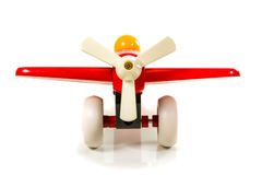 Toy wooden airplane propeller Stock Image