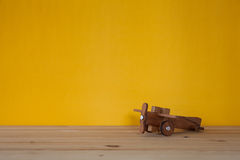 Toy wooden airplane Stock Image