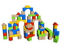 Toy wooden block fort Royalty Free Stock Photography