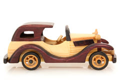 Toy Wooden Car Stock Photo