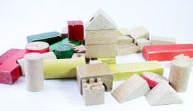 Toy wooden castle Stock Photos
