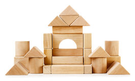 Toy wooden castle Royalty Free Stock Images
