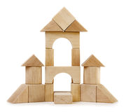 Toy wooden castle Stock Photo