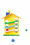 Toy wooden house Royalty Free Stock Image