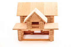 Toy wooden house isolated on white Stock Images