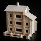Toy wooden house stock photos