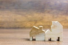 Toy wooden house model Stock Image