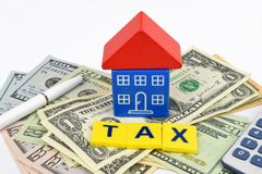 Dollar house Cost Royalty Free Stock Photo