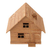Toy wooden house on white Royalty Free Stock Photos