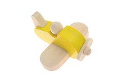 Toy Wooden Plane Foto de Stock Royalty Free