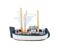 Toy Wooden Sail Boat stock afbeeldingen