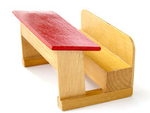 Toy wooden school bench Stock Photos