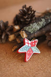 Toy wooden star Royalty Free Stock Images