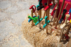 Toy wooden swords Royalty Free Stock Image