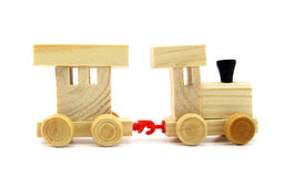 Toy wooden train. This is a toy wooden train Royalty Free Stock Images