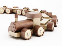 Toy wooden train Royalty Free Stock Images