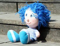 Toy with woolen hair Royalty Free Stock Photo