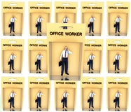 Toy Worker. An image of a set of business man in toy form Royalty Free Stock Photos