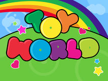 Toy world background Stock Images