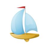 Toy yacht. Vector illustration. Royalty Free Stock Images