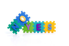 Toy yes no stock photos