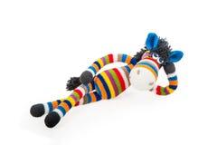 Toy Zebra arkivbild