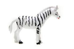 Toy zebra over white Stock Photos