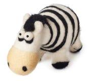 Toy zebra  on white background Stock Photo
