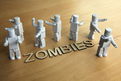 Toy zombies Royalty Free Stock Images